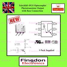 5 Qty Fairchild 4N35 Optoisolator (Optocoupler, Isolator) DIP/DIL6 IC UK Seller.