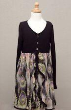 Girls' Chiffon Long Sleeve Dresses (2-16 Years)
