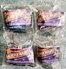 Vintage 1995 Wendy's Kids Meal Toys -  LASER KNIGHTS  - Mint / Sealed Set of 4