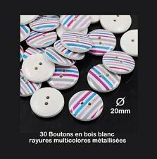 A246-30mm 2pcs très large Unique Italien Argent Plastique boutons veste manteau
