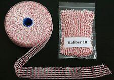 10 Meter Räuchernetz Schinkennetz Weiß/Rot Kaliber 10 Lachsschinken Bratennetz