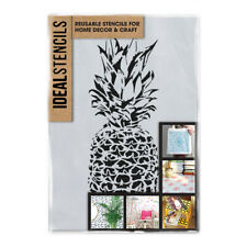 Ananas Schablone Tapete Effekt Dekor Farbe Wiederverwendbar Wand Kunst Handwerk
