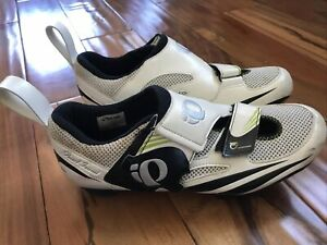 Pearl Izumi Interface Womens 9 Road Cycling Shoes Tri Fly Triathlon 41.5 White