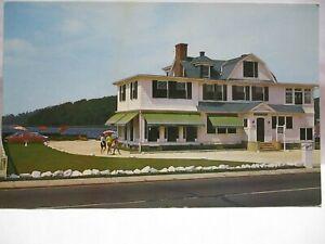 "1950s ADV POSTCARD "" A NICE GUEST HOUSE ""  420 OCEAN AVE SEA BRIGHT NJ BIO CARS"