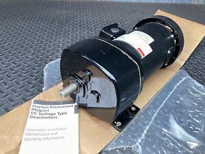 Dayton 6Z417A DC Gearmotor: 90V DC, 90 RPM 305 in-lb Max. Torque, CW/CCW