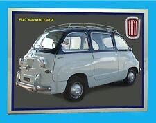 FIAT 600 MULTIPLA - TARGA METALLO - RIPRODUZI. D' EPOCA