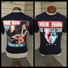 Eminem Rihanna The Monster Tour 2014 T Shirt Small Concert Tour Black
