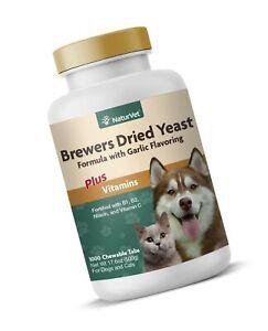 NaturVet – Brewer's Dried Yeast Formula with Garlic Flavoring – Plus Vitamins...