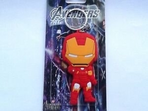 IRON MAN AVENGERS  DOUBLE SIDED STRONG RUBBER  KEY RING COMES WITH GIFT BAG