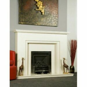 Stunning complete fireplace in Polar White
