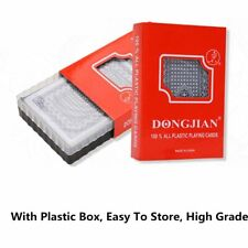 Plastic Playing Cards With Box 54pcs Deck Poker Classic Magic Tricks Waterproof