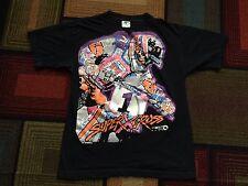 Vintage 90s 1993 Super X Cross Motocross Motorcycle T Shirt Tour USA sz L Black