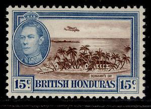 BRITISH HONDURAS GVI SG156, 15c brown & light blue, M MINT.