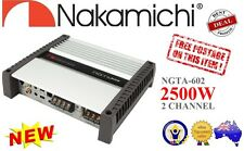 Nakamichi NGTA602 2500 Watt Peak, A/B - CLASS, 2 Channel Car AMP Amplifier