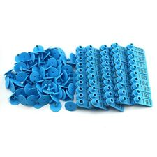 101-200 Blue Number Plastic Livestock Ear Tags Animal Tag for Goat Sheep Pigs