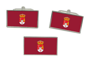 Albacete (Spain) Flag Cufflink and Tie Pin Set