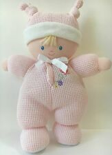 Carters Child Of Mine Pink Thermal Blonde Rattle Plush