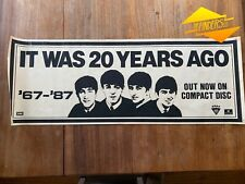 GENUINE 1987 THE BEATLES 'IT WAS 20 YEARS AGO' 67-87 EMI RECORDS ALBUM POSTER