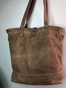 Myra Bag Brown  Leather Tote Bag