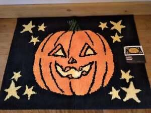 Celebrate Halloween Together Jack-O-Lantern with Stars Bathroom Rug 20x30