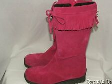 MINI BODEN pink boots fuschia sz 37 4 5 worn once 6 womens fringe