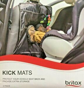 BRITAX KICK MATS (2 PACK) - PROTECTS VEHICLE SEAT BACK & PROVIDES EXTRA STORAGE