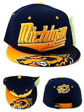 f8f46ae125f Michigan New Leader Flash Wolverines Colors Blue Maize Gold Era Snapback Hat  Cap