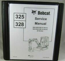 Bobcat 325 328 D Compact Excavator Service Manual Shop Repair Book 6901138