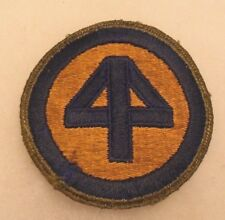 WWII 44TH INFANTRY DIVISION PATCH OD BORDER VARIANT OFF UNIFORM CUT EDGE