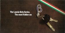 Lancia Beta Series 2 1978 UK Market Brochure Berlina Coupe HPE Spider Montecarlo