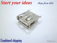 5 Pcs USB Type A Female Socket 4-Pin 180 Degree DIP Jack Connector