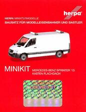 HERPA MiniKit 1:87 PKW MB Sprinter ´13 Flachdach. weiß Bausatz #013314 NEU/OVP