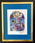 MARC CHAGALL +1967 BEAUTIFUL SIGNED  WINDOW OF REUBEN PRINT MATTED 11X14