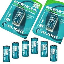 8X Olight 650mAh RCR123A (16340) Li-ion protected rechargeable batteries