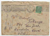 1936 Germany printed matter rate cover Munich to Hawaii [y1834]