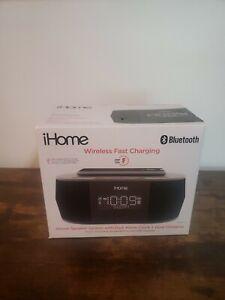 iHome Wireless Dual Charging Stereo Speaker Alarm Clock iBTW38B
