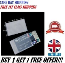 1 X PVC CREDIT CARD HOLDER PROTECT ID CARD BUSINESS COVER CLEAR *FROSTED* UK
