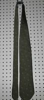 Donna Karan DKNY Gray Black Mens 100% Silk Mens Necktie Neck Tie