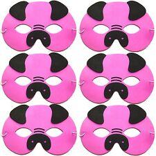 Pack of 6 Foam Pig Masks - Childrens Farm Animal Fancy Dress