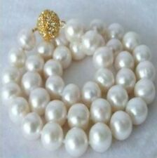 Pretty Huge 12mm South Sea White Shell Pearl Round Beads Necklace 18""