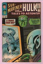 Tales to Astonish #72 Sub-Mariner & Hulk Marvel Comics 1965 Kirby/Colan Vg/Fn