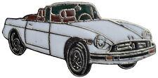 MG MGB Rubber bumper car cut out lapel pin - White body