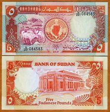 Sudan, 5 Pounds, 1991, P-45, UNC