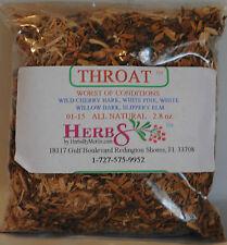 Herbs by Merlin THROAT (Sore Throat, Cold, Flu) Organic leaf tea 2.8 oz