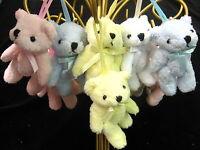Teddy bear key tassel Ted on a rope small soft toy polyester fabric teddie bear