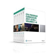 CFA Program Curriculum 2017 Level I, Volumes 1 - 6 by CFA Institute - PDF format