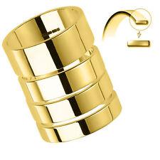 Markenlose Echte Edelmetall-Ringe ohne Steine im Band-Stil aus Gelbgold