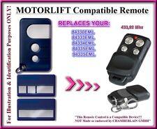 Motorlift 84330EML / 84333EML / 84335EML compatible mando a destancia, 433,92Mhz