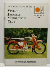 Vintage Japanese Motorcycle Club VJMC Newsletter Magazine Volume 17 #2 1998