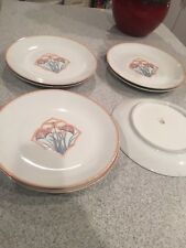 A. Giraud & Brousseau Limoge France 7  Plates Handpainted